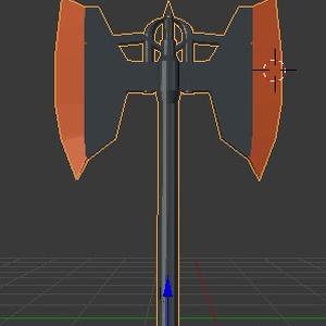 両刃電熱斧