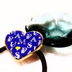 アンテモチーフ髪留め(ブルー)