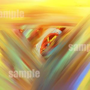【データ販売】抽象画『人、圧力、渦、巻く』