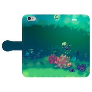 【送料込み】イカした水族館iPhone 手帳型スマホケース