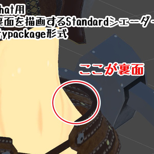 VRChat用「裏面を描画するStandardシェーダー」Unitypackage形式