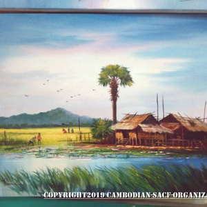 カンボジア油絵画像