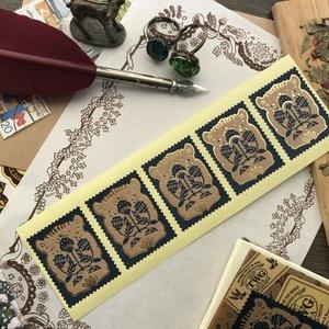城壁都市水楼閣郵便切手封箔押しシール