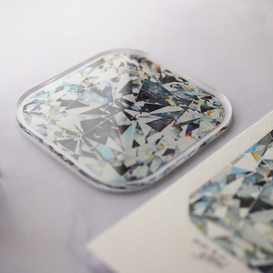 Cushion cut  DIAMOND 複製原画アクリルコースター💎