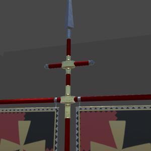 オリジナル3Dモデル「banner spear」