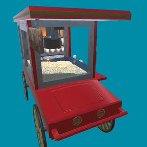 オリジナル3Dモデル「ポップコーンカー」