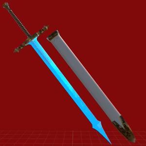 VRC向けオリジナル3Dモデル「crystalsword」