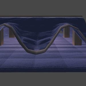 VRChat向けオリジナル3Dモデル「長こたつ」