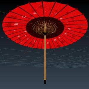VRChat向けオリジナル3Dモデル「和傘」