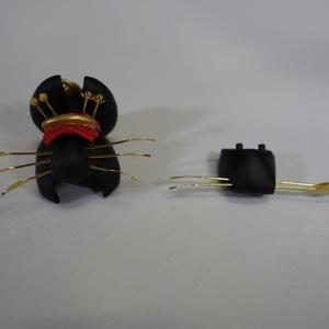 メガミデバイス 朱羅用 改造ヘッドパーツ 花魁(立兵庫)風 塗装済み完成品