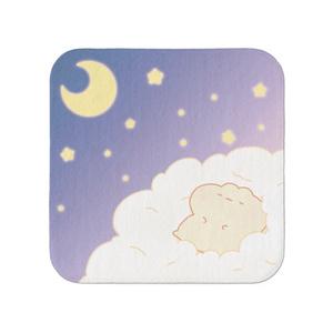 ハムのハンカチタオル~ふわふわ雲の上~