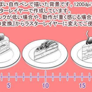 ショートケーキ素材集(クリスタ・PSD・PNG)