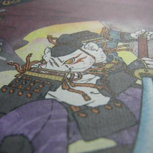 和紙印刷イラスト「ねずみの化猫退治」