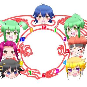 遊戯王5D's アクリルクロック