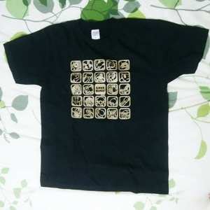 【Love Bugs!】むしアイコン Tシャツ(ブラック×ゴールド)