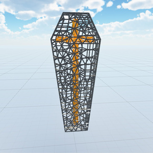 【3D】棺【VRC向け】
