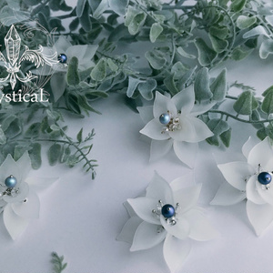 【受注製作】《リュミエの花》ループタイ&ブローチ