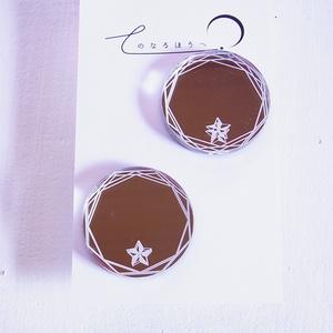 【SALE】多角形に星章イヤリング/ピアス(3種)