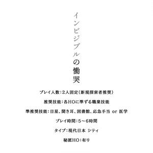 【会場購入者用】インビジブルの慟哭