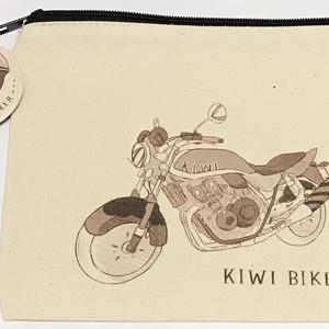 クッキーラン「キウイバイク キャンバスポーチ&缶バッジ」