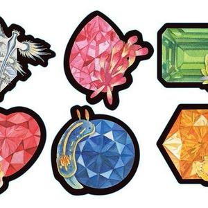 海の宝石フレークシール