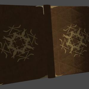 【オリジナル3Dモデル】魔法使いの本(△520ポリゴン)