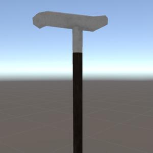 【オリジナル3Dモデル】紳士の杖(△134ポリゴン)