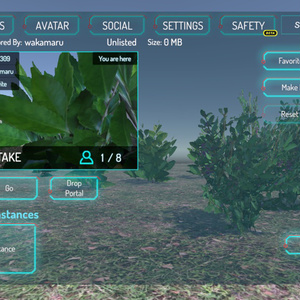 植物のローポリ3Dモデルと草地のテクスチャ【オリジナル3Dモデル】