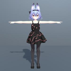 幽狐さん用衣装モデル ドレス2着目、靴
