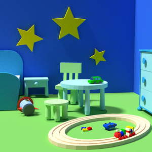 【3Dモデル】子供部屋セット