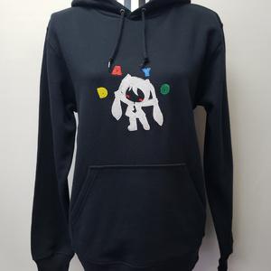 ミクダヨー刺繍パーカー3L黒