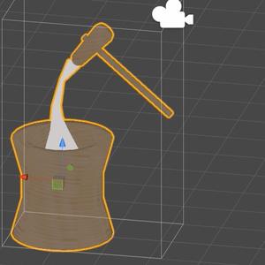 3Dモデル「お餅セット」(無料版あり)
