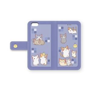 iPhone6/6s手帳ケース(紺)
