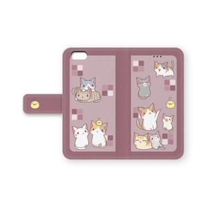 iPhone6/6s手帳ケース(えんじ)