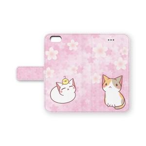 iPhone6/6s 手帳型ケース(桜)