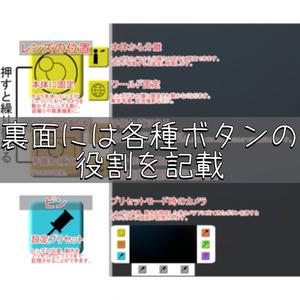【無料】VRChat用カメラ説明アバターver.1.1+1(アイコン画像セット)