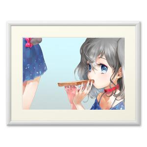 「しゅなのおじかん」複製画(プリモアート)
