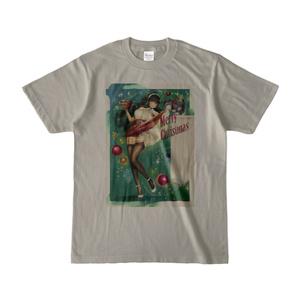 ピンナップガール風彼女ちゃんクリスマス/カラーTシャツ