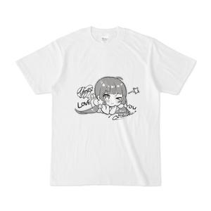 天甜モノクロTシャツ