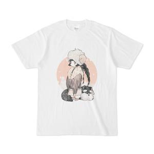 雪犬Tシャツ