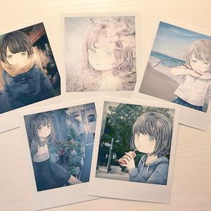 ポラロイド風写真(5枚組)