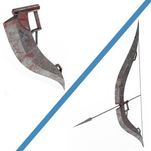 fbxモデル 弓鉈「Arc」
