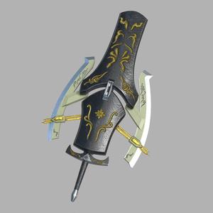 fbxモデル 刃盾/片手剣 「Flugel」