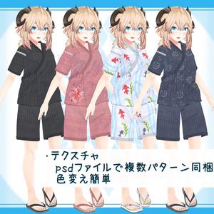 [9モデル対応]衣装モデル『甚平』