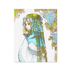 ガラス葡萄と青い衣の少女(複製画・キャンバス)