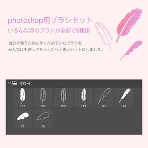 photoshop用 いろんな羽のブラシ素材セット