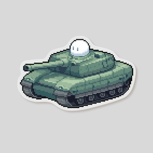 ステッカー オパケ戦車