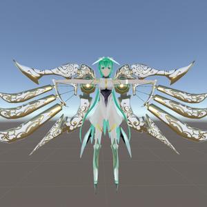 VRC用アクセサリー3Dモデル「機械翼」