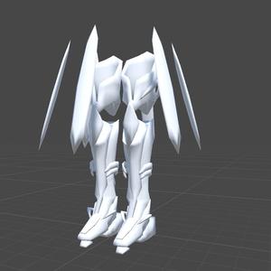 (試用版)VRChat用3Dアクセサリー「ノブリスレギンス」