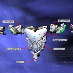 VRChat用3Dアクセサリー「ノブリスアーマー」
